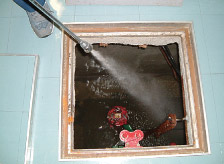 排水槽の清掃